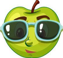 Apple stripfiguur met gezichtsuitdrukking vector