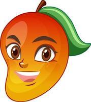 mango stripfiguur met gezichtsuitdrukking