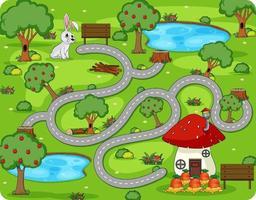 schattige cartoon doolhof game sjabloon