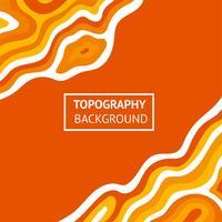 Topografie oranje achtergrond vector