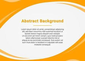gele kromme achtergrond voor presentatie vector