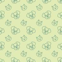hond en kat digitaal document patroonontwerp vector