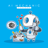 Ai Mechanic Illustratie vector