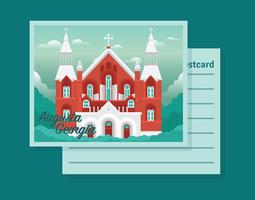 Augusta Georgia briefkaart vector