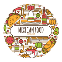 Mexicaans eten menu vector