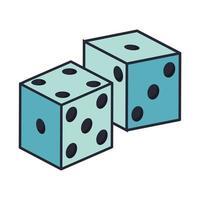 Casino dobbelstenen geïsoleerde pictogram vector
