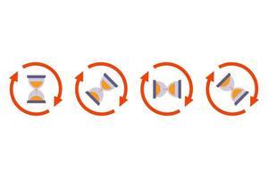 flip zandloper pictogram op witte achtergrond. platte vectorillustratie