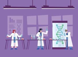 onderzoeksontwerp voor coronavirusvaccins met chemici