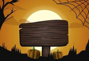 halloween donker maan licht bos en tekenontwerp