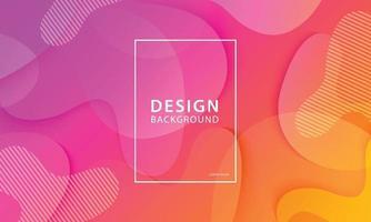 vloeiende vorm banner ontwerp achtergrond. vloeibaar geometrisch oranje en roze gradiëntsjabloon.