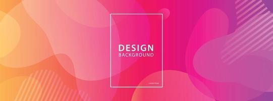 vloeiende vorm banner ontwerp achtergrond. vloeibare geometrische gradiëntsjabloon.