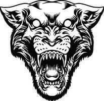 zwarte panter hoofd mascotte illustratie vector