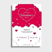 Valentijnsdag partij kaart