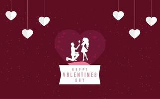 Valentijnsdag achtergrond concept in papieren stijl
