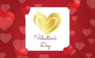 Valentijnsdag achtergrond concept met hart
