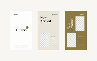 minimalistische sjabloon voor sociale media-verhalen.