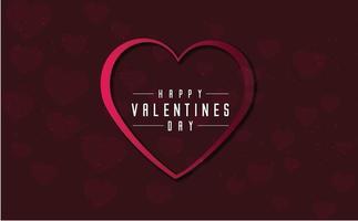 Valentijnsdag achtergrond concept met hart frame
