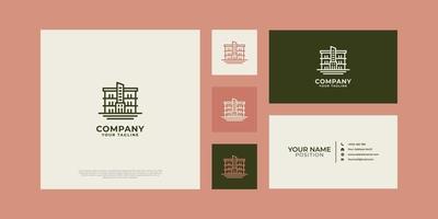 woongebouw logo met visitekaartje. vector