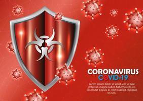 coronavirus campagne achtergrond vector