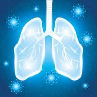 menselijke longen voor coronaviruscampagne vector