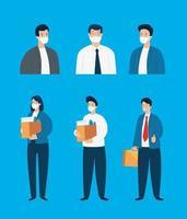 aantal werkloze zakenmensen vector
