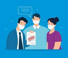 trieste zakenmensen worden ontslagen vector
