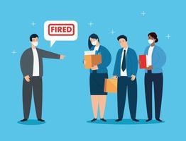 zakenmensen worden ontslagen vector
