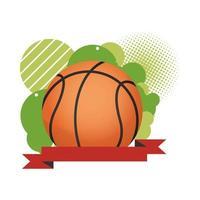 basketbal met lintframe vector