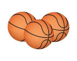 basketballen apparatuur pictogrammen vector