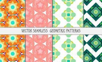 grunge kleurrijke geometrische naadloze patronen instellen vector
