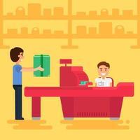 winkelen concept illustratie vector