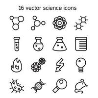 wetenschap stel pictogrammen vector