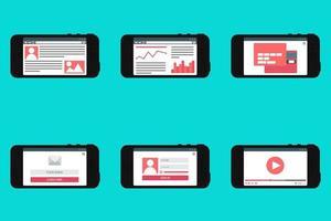 websjabloonformulier op smartphone vector