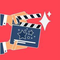 platte film Filmklapper