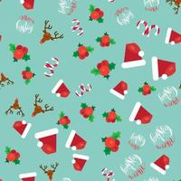 vrolijk kerstfeest naadloze patroon vector