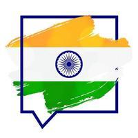 gelukkige onafhankelijkheidsdag india groet sjabloon vector
