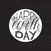 gelukkige dag van de aarde belettering vector