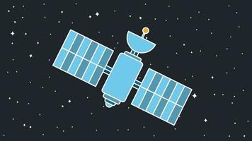 moderne kosmos-satelliet vector