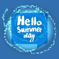 hallo zomer belettering vector