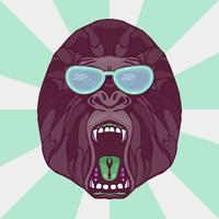 grommende gorilla-tatoeage vector