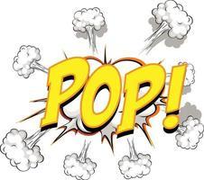 komische tekstballon met pop-tekst