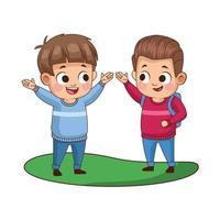 schattige kleine jongens avatars-personages vector