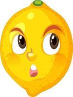 citroen stripfiguur met doordachte gezichtsuitdrukking op witte achtergrond vector