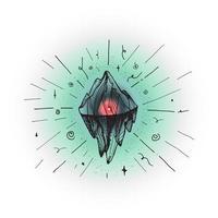 berg ijsberg piek vector