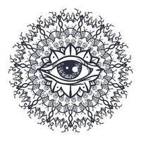 alle wakend oog in mandala vector