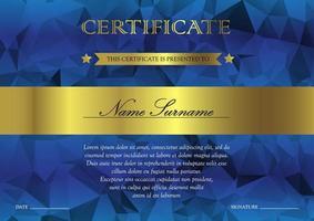 certificaat en diploma sjabloon