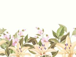 bloemen naadloos patroonontwerp, voor mode en achtergrond vector