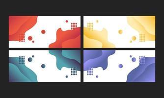 abstracte vloeibare vectorachtergronden