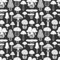 bos paddestoelen naadloze patroon vector