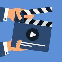 platte film Filmklapper vector